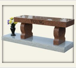 Young - India Red bench